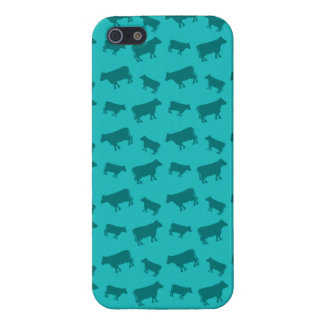 Turquoise cow pattern covers for iPhone 5