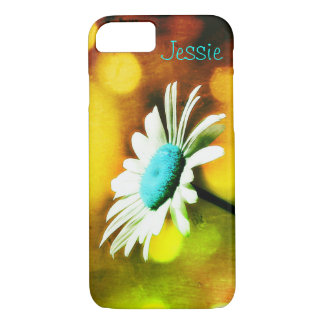 Turquoise Daisy in Gold iPhone 7 Case *Personalize