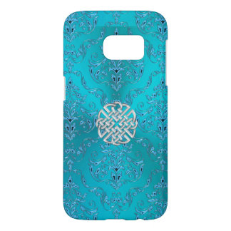 Turquoise Damask Celtic Knot Samsung Galaxy S7 Case