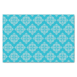 Turquoise Damask Tissue Paper