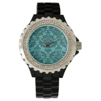 Turquoise Damask Watches