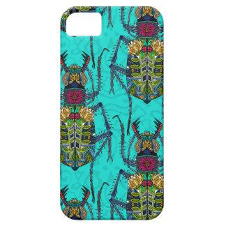 turquoise de scarabée de fleur coque Case-Mate iPhone 5