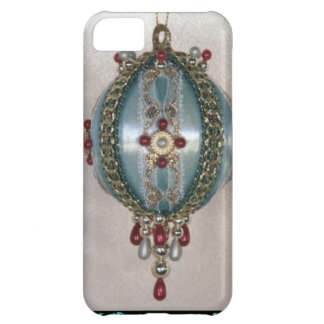 Turquoise decoration with pearls iPhone 5C cover