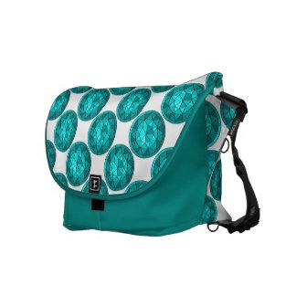 Turquoise Diamond Messenger Bag