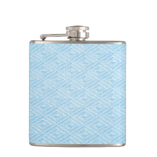 Turquoise Diamond Pattern Flask