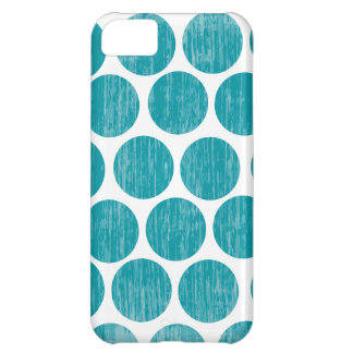 Turquoise Distressed Polka Dot iPhone Cover For iPhone 5C