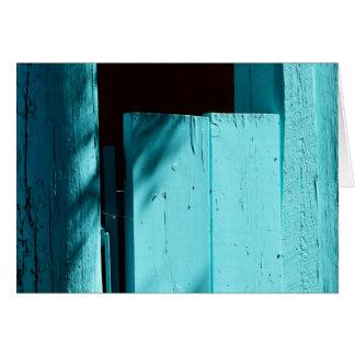 Turquoise Door, Blank Greeting Card