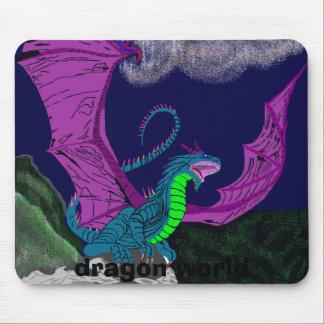 turquoise dragon5, dragon world mouse pad