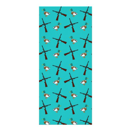 Turquoise duck hunting pattern rack card