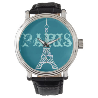 Turquoise Eiffel Tower Paris Women's Watch