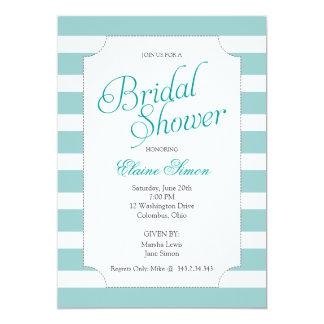 Turquoise Elegant Bridal Shower Party Invitation