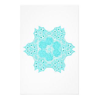Turquoise ethnic design stationery