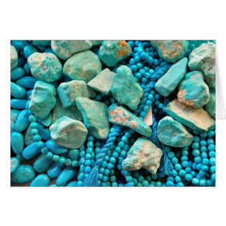 Turquoise Fallen Sky Stone December Birthday Card