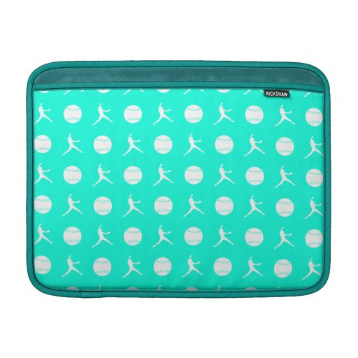 Turquoise Fastpitch MacBook Air Sleeve