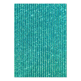 Turquoise Faux Sparkles Chic Elegance Large Business Card