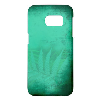 Turquoise Fern Distressed Teal Samsung Galaxy S7 Case