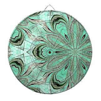 Turquoise flower pattern (K361) Dartboard