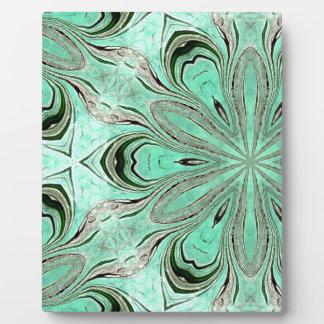 Turquoise flower pattern (K361) Plaque