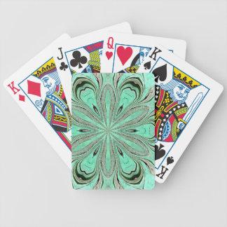 Turquoise flower pattern (K361) Poker Deck