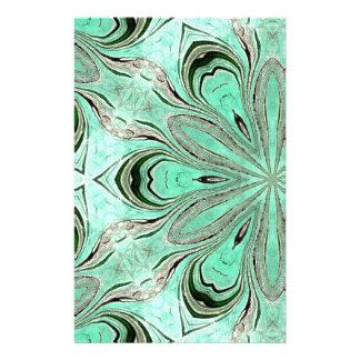 Turquoise flower pattern (K361) Stationery