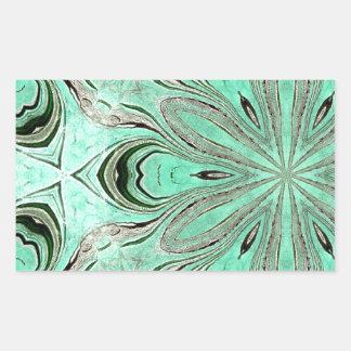 Turquoise flower pattern (K361) Sticker
