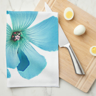 TURQUOISE FLOWER POWER KITCHEN TOWEL
