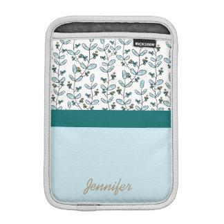 Turquoise Flowers & Vines iPad Mini Case iPad Mini Sleeves