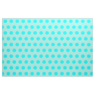 Turquoise fluffy spots light turquoise b/g fabric