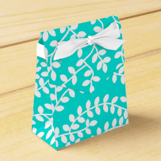 Turquoise Forest Favor Box