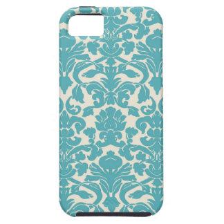 Turquoise French Damask iPhone 5 Case