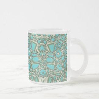 Turquoise (frosty mug) frosted glass coffee mug