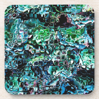 Turquoise Garden of Glass Beverage Coasters