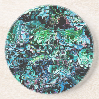 Turquoise Garden of Glass Drink Coaster