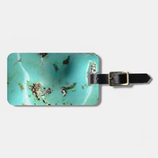 Turquoise Gemstone Image Luggage Tag and Strap