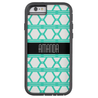 Turquoise Geometric Triangle Pattern Tough Xtreme iPhone 6 Case