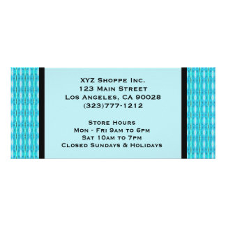 Turquoise Gift Certificate Rack Card Template