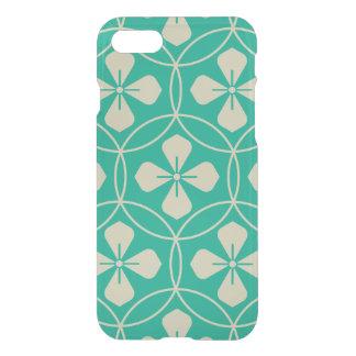 Turquoise glam diamond geometric floral pattern iPhone 7 case