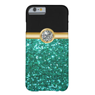 Turquoise Glitter Bling Barely There iPhone 6 Case