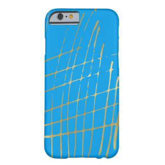 Turquoise Gold Criss Cross Barely There iPhone 6 Case