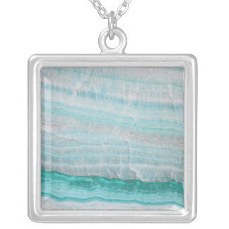 Turquoise Granite Stone Layered Wave Print Necklaces
