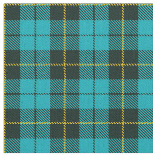 Turquoise green/blue plaid yellow/black stripe fabric