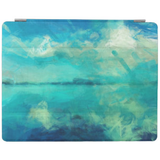 Turquoise Green Calm Summer Day Abstract Art iPad Cover