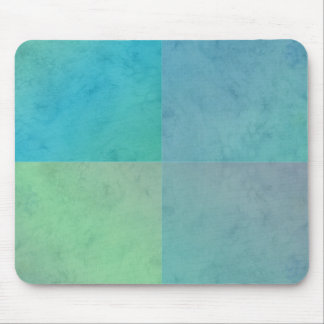 Turquoise Green Watercolor Geometric Pattern Art Mouse Pad