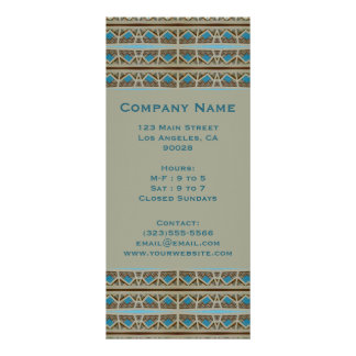 turquoise grey personalized rack card