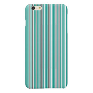 Turquoise Grey Shades Stripe Pattern
