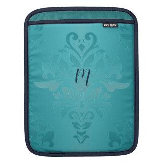 Turquoise Grunge Damask iPad Sleeve