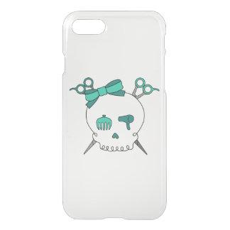 Turquoise Hair Skull -Scissor Crossbones iPhone 7 Case
