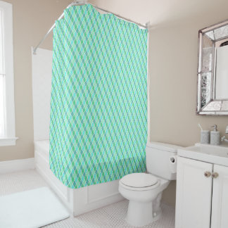 Turquoise Harlequin Shower Curtain