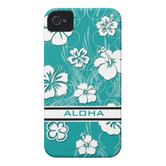 Turquoise Hibiscus Case-Mate ID™ Apple 4/4S Cover