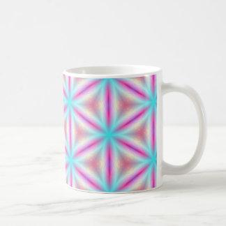 Turquoise & Hot Pink Fractal Kaleidoscope Mug